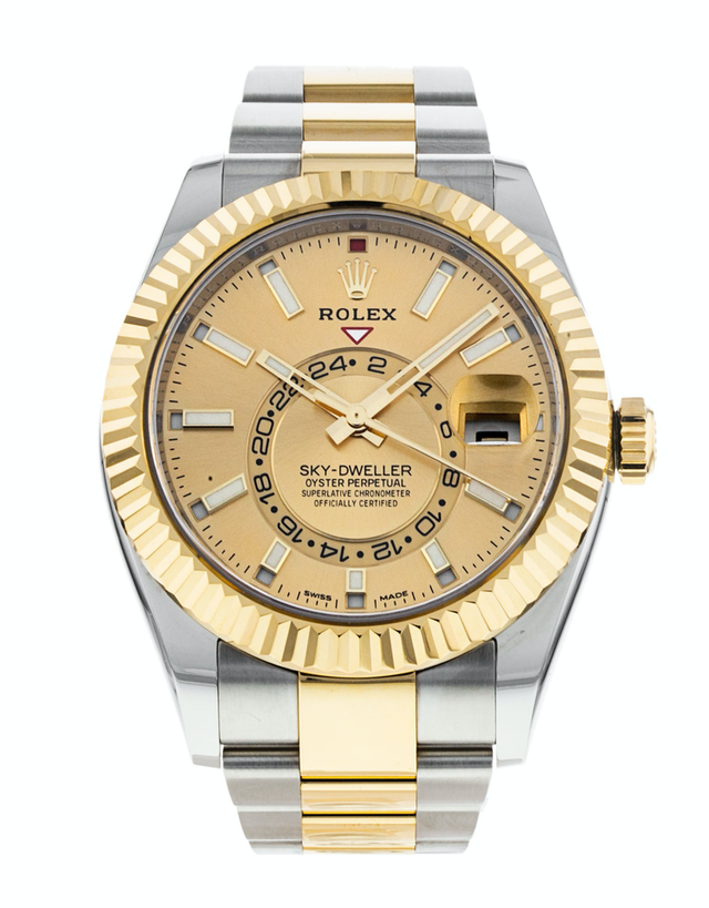 Rolex Sky-Dweller Champagne Dial Men's Watch