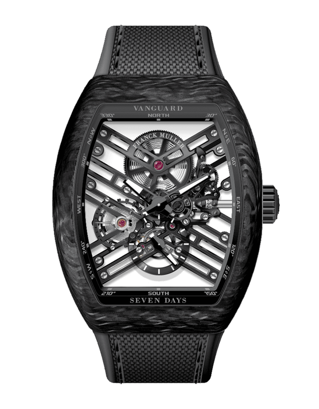 Franck Muller V45 Vanguard Carbon Seven Days Skeleton Men's Watch