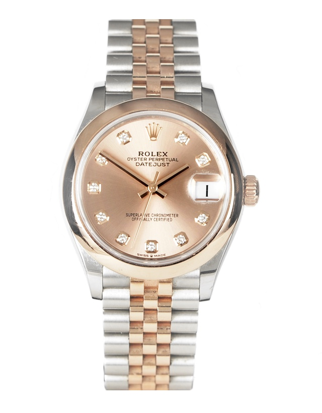 Rolex Datejust 31mm Stainless Steel and Rose Gold Ladies Watch