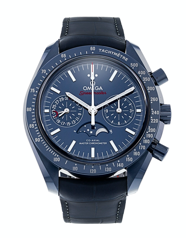 Omega Speedmaster Moonphase Co-Axial Master Chronometer Chronograph Blue Side Of The Moon Men's Watch