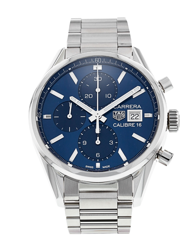 Tag Heuer Carrera Blue Dial Men's Chronograph Watch