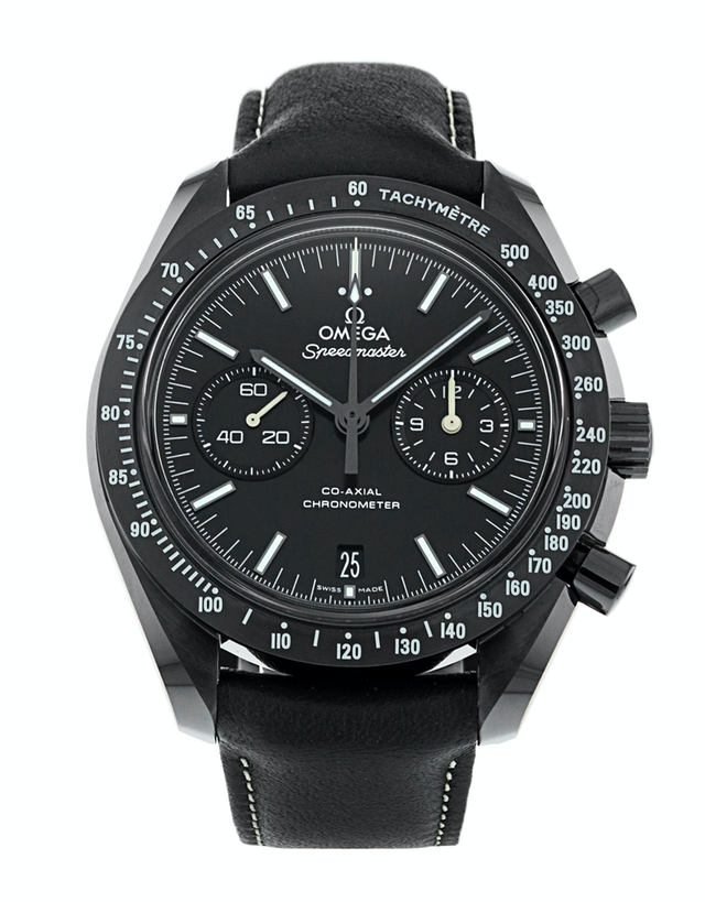 Omega Speedmaster Moonwatch Co-Axial Chronograph Dark Side Of The Moon Pitch Black Men's Watch
