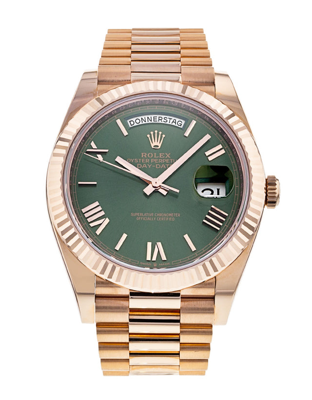 Rolex Day-Date 40mm Everose Gold Men's Watch