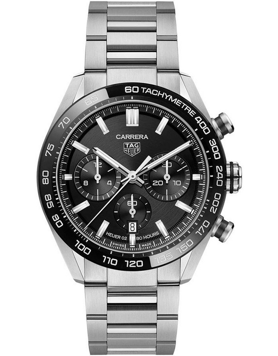 Tag Heuer Carrera Chronograph Automatic Black Dial Men's Watch