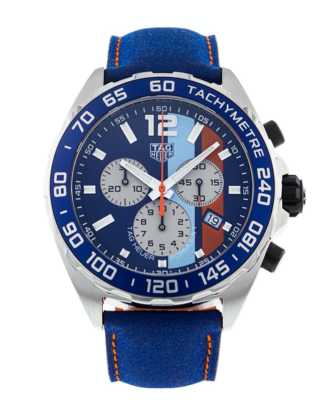 Tag Heuer Formula 1 Quartz Chronograph Gulf Special Edition Men's Watch
