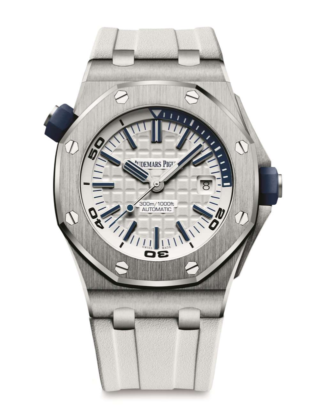 Audemars Piguet Royal Oak Offshore Stainless Steel White Automatic Men's Watch