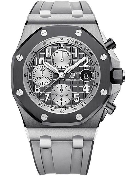 Audemars Piguet Royal Oak Offshore Titanium Dark Grey Automatic Mens Watch