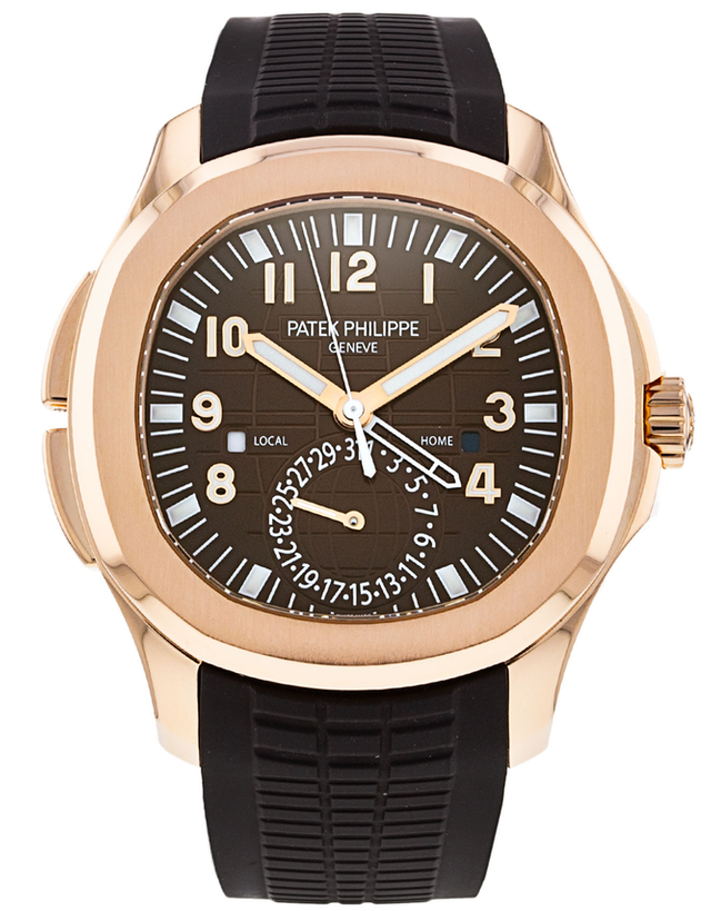 Patek Philippe Aquanaut 18k Rose Gold Brown Automatic Men's Watch