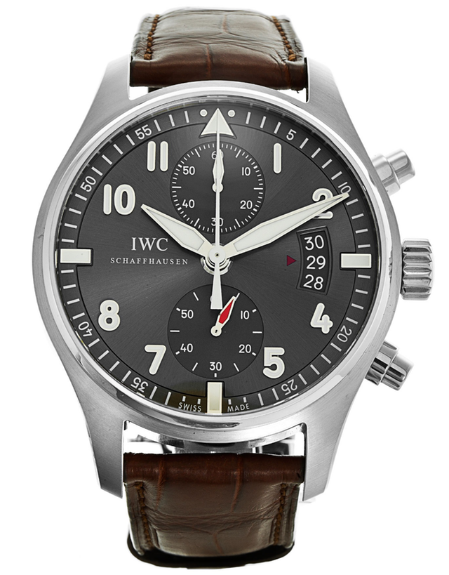 IWC Spitfire Chronograph Slate Grey Dial Men's Watch