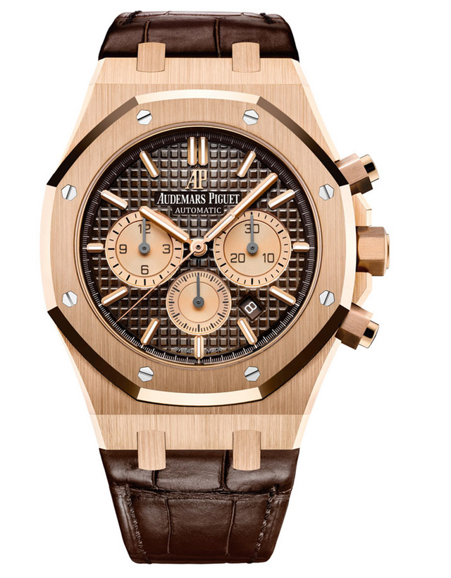 Audemars Piguet Royal Oak 18k Rose Gold Dark Brown Automatic