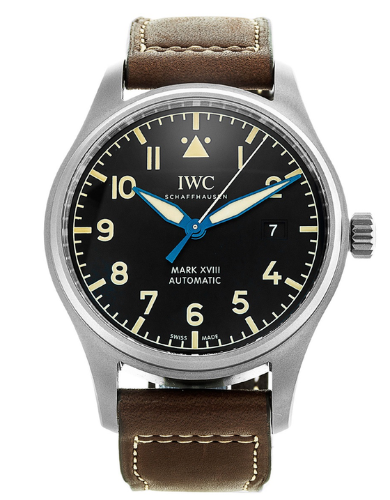 IWC Pilot's Mark XVIII Heritage Titanium Case Leather Strap Men's Watch