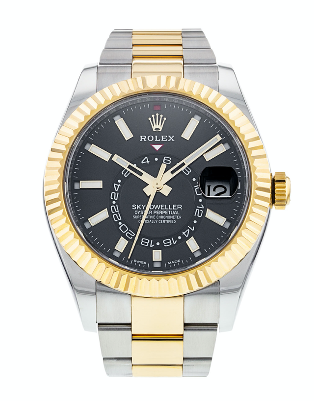 Rolex Sky-Dweller Black Dial Men's Watch