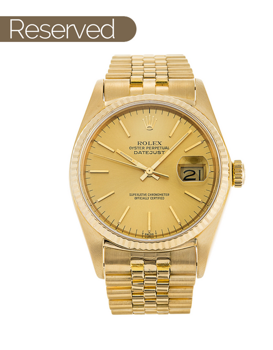 Rolex Datejust Yellow Gold Men's Watch