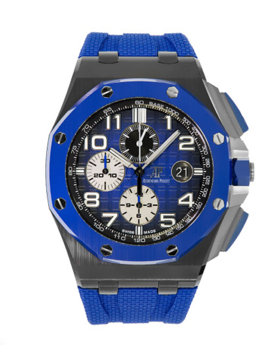 Audemars Piguet Royal Oak Offshore Blue Ceramics Automatic Mens Watch