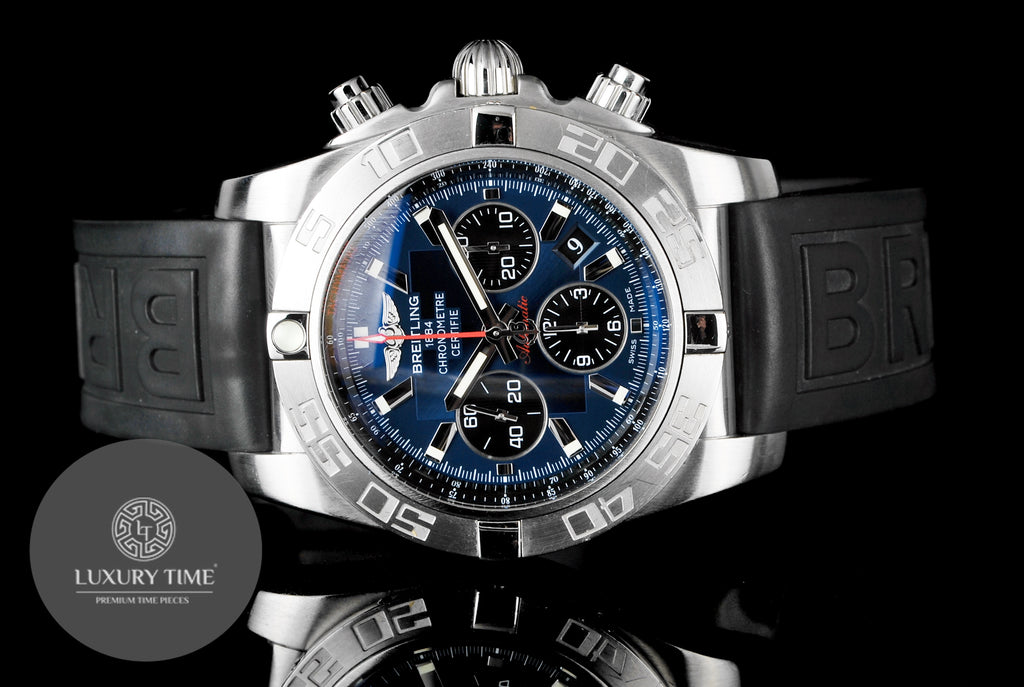 Breitling Chronomat 44 Blue Dial Mens Watch