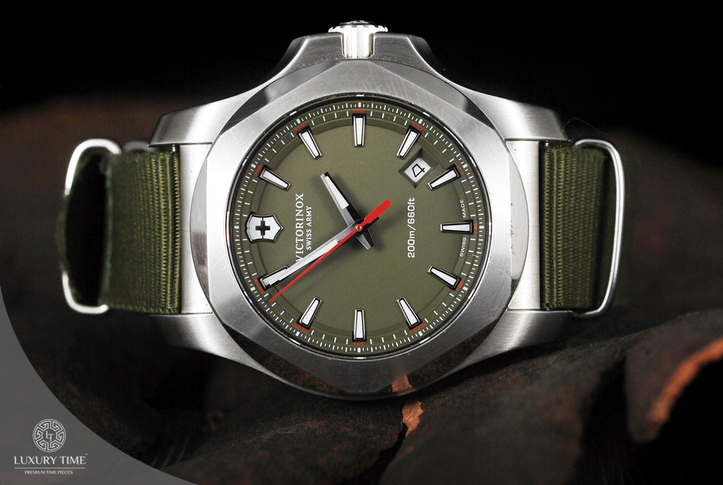Victorinox Swiss Army Inox Green Dial Men's Watch
