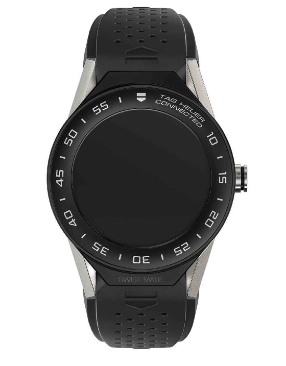 TAG HEUER CONNECTED MODULAR 41 SILVER TITANIUM MATTE BLACK BEZEL UNISEX WATCH