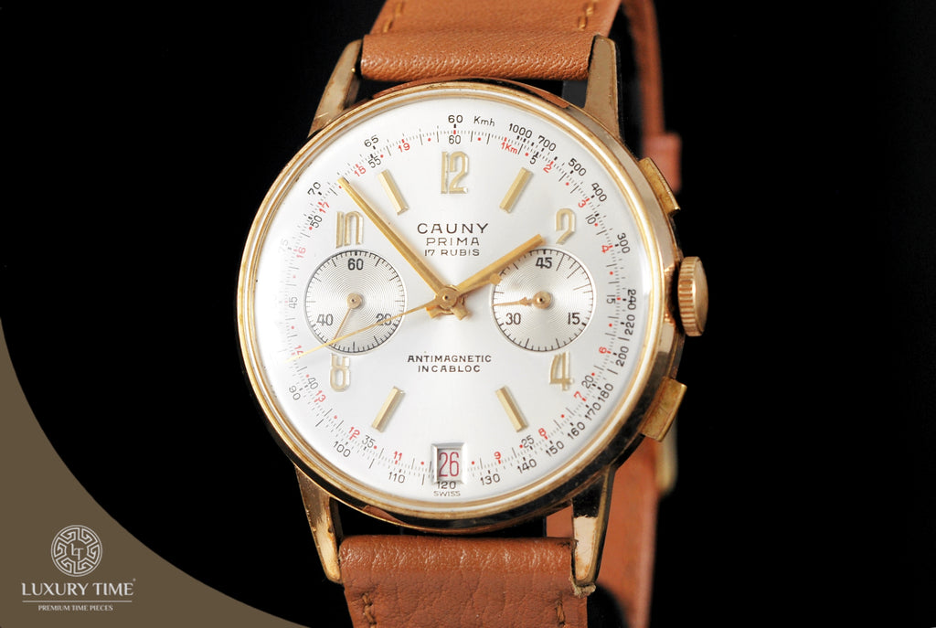 Cauny Prima Gold Plated Chronograph Mens Watch