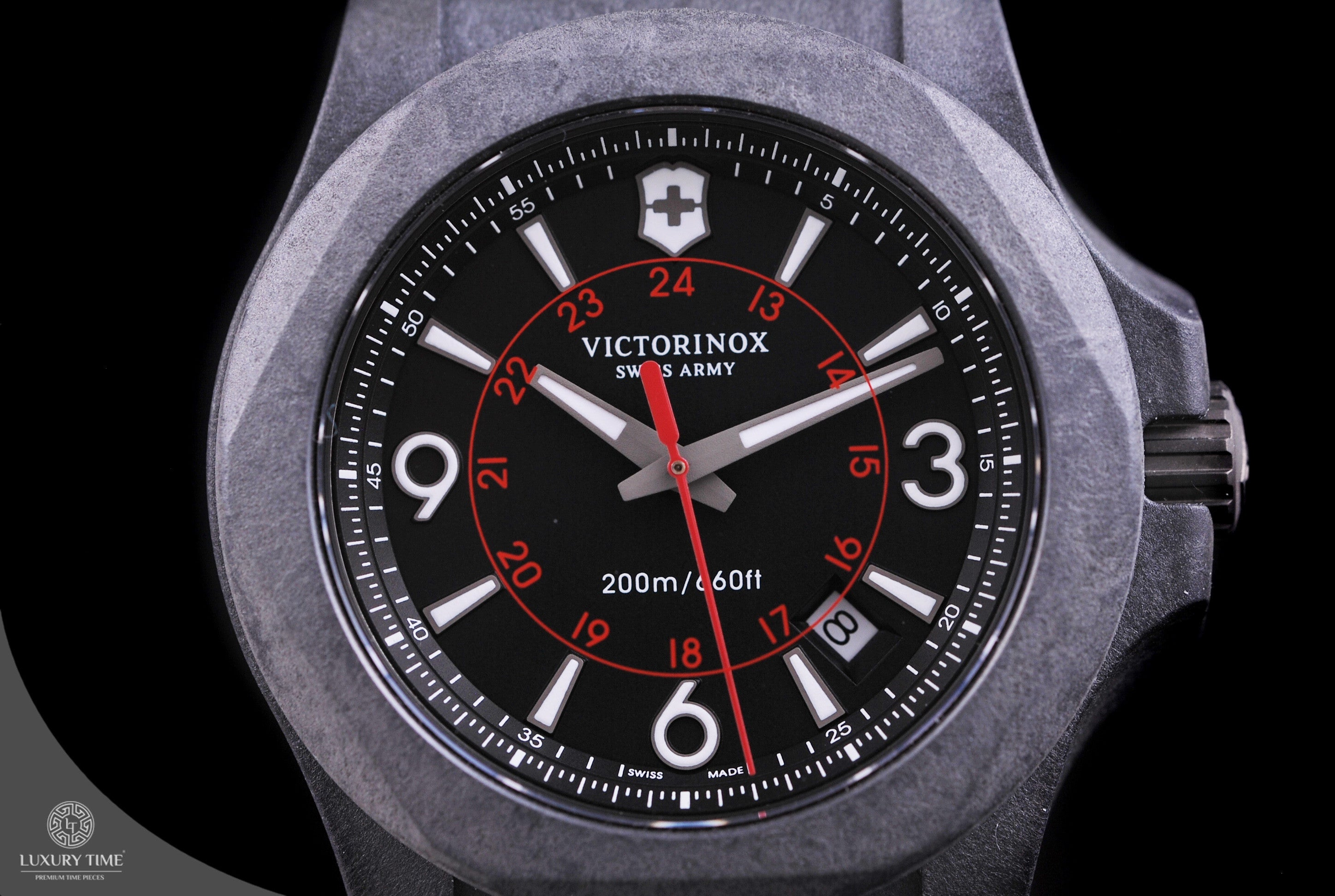 victorinox black inox watchtimesa victor watches carbon watch army products swiss