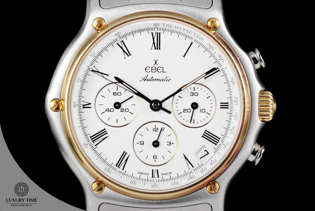 Ebel 1911 Chronograph Automatic 18K Gold & Stainless Steel 38mm Watch