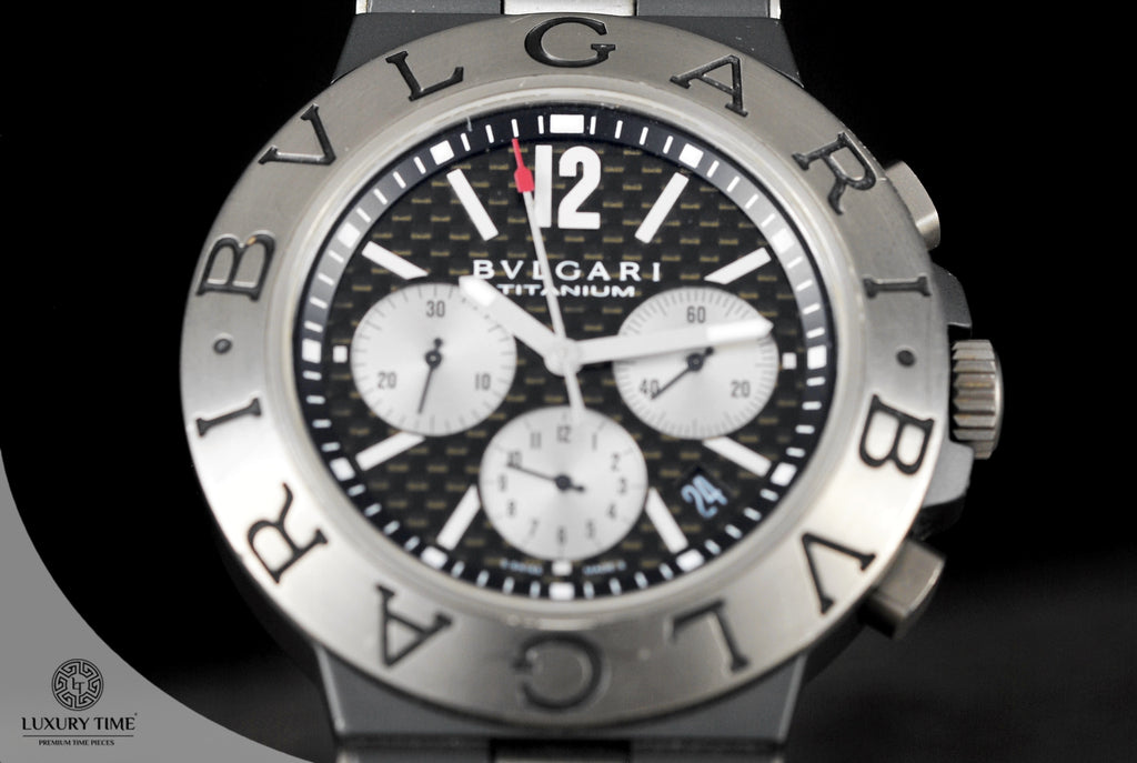 Bvlgari Diagono Black Dial Men's Watch