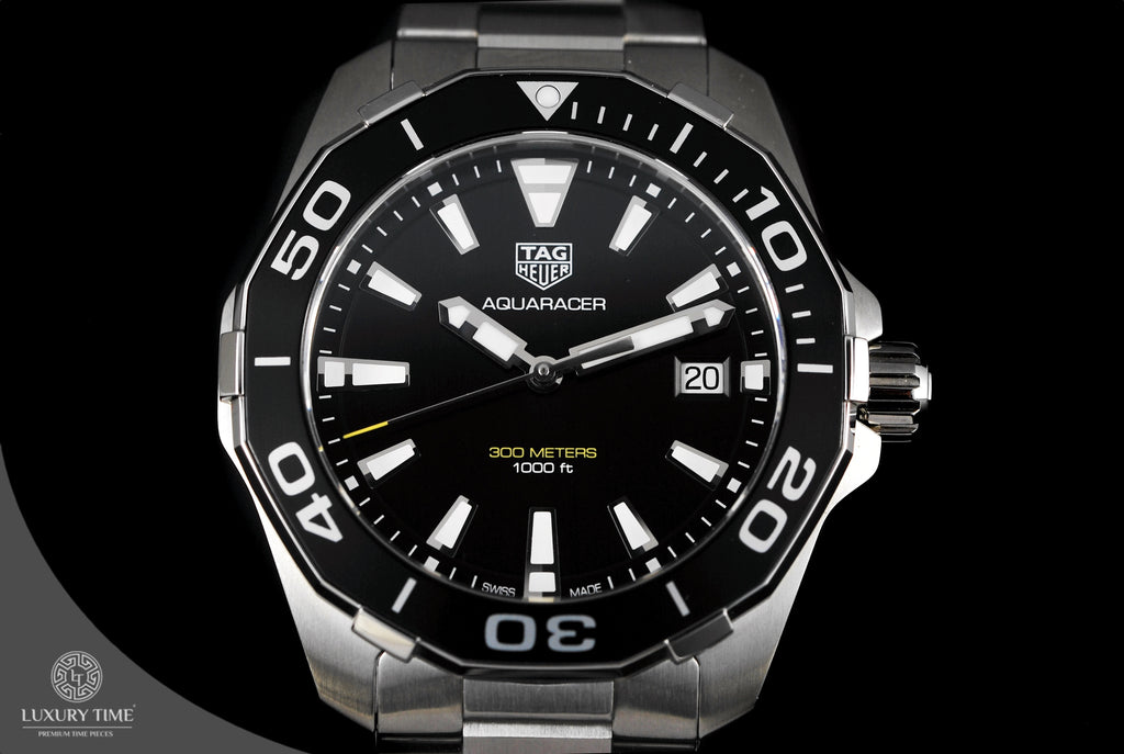 Tag Heuer Aquaracer 300M 40.5MM Black Dial Ceramic Bezel Men's Watch