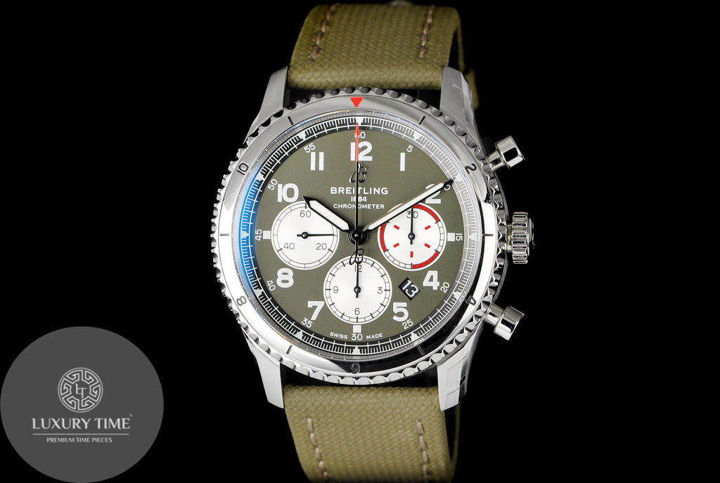 Breitling Aviator 8 Curtiss Warhawk Green Dial Men's Watch