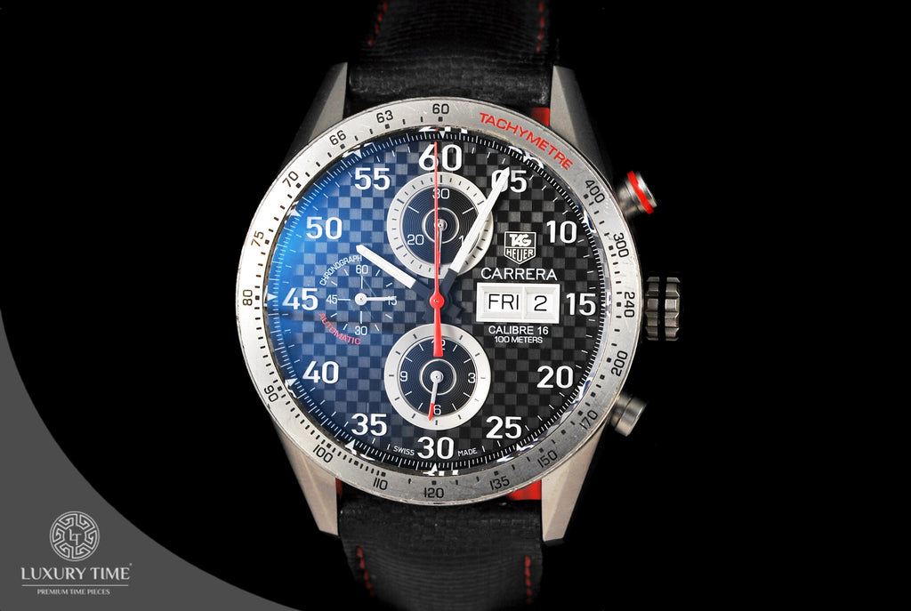 Tag Heuer Carrera Calibre 16 Chronograph Day Date Titanium Men's Watch