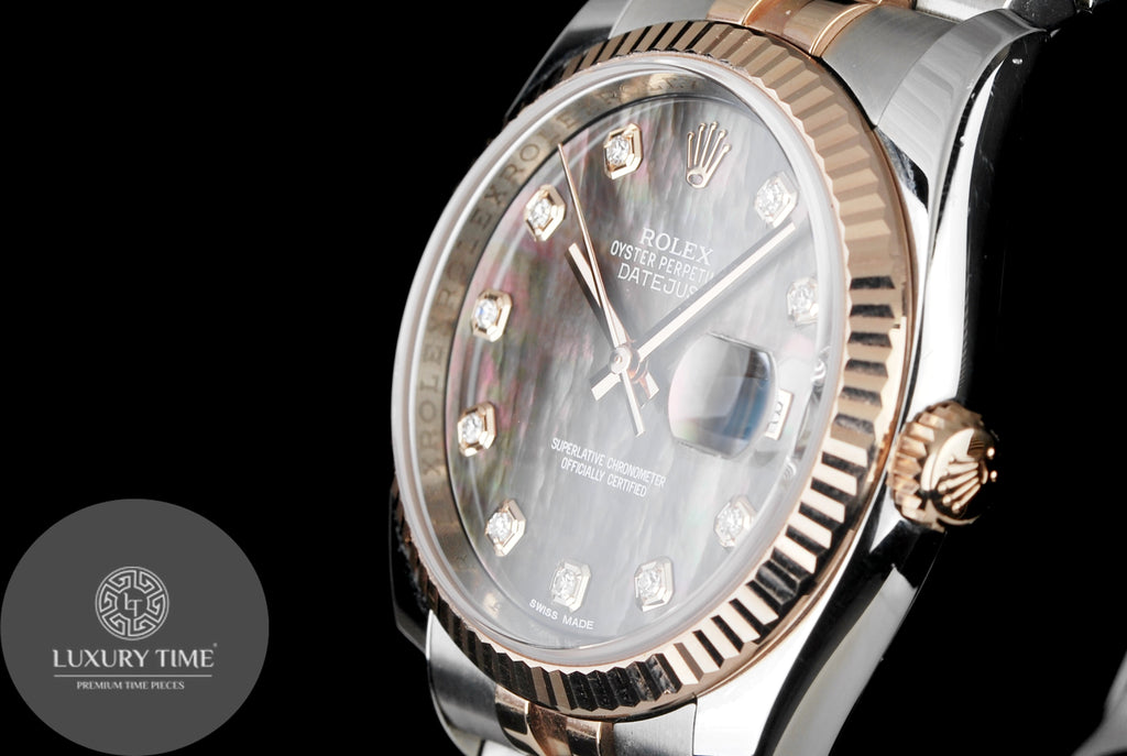 Rolex Datejust Steel & Rose Gold Mens Watch