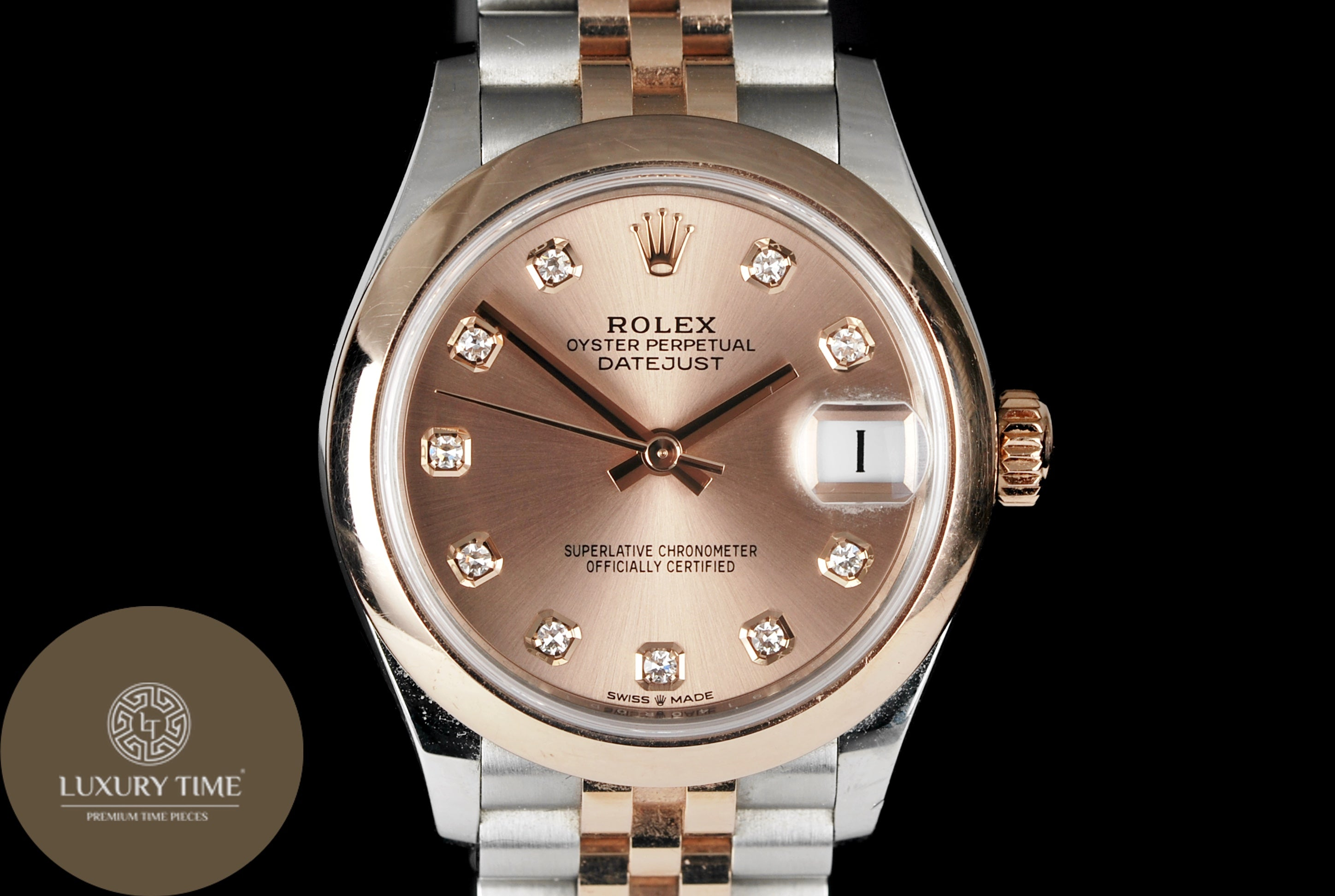 Rolex Datejust 31mm Stainless Steel and Rose Gold Ladies