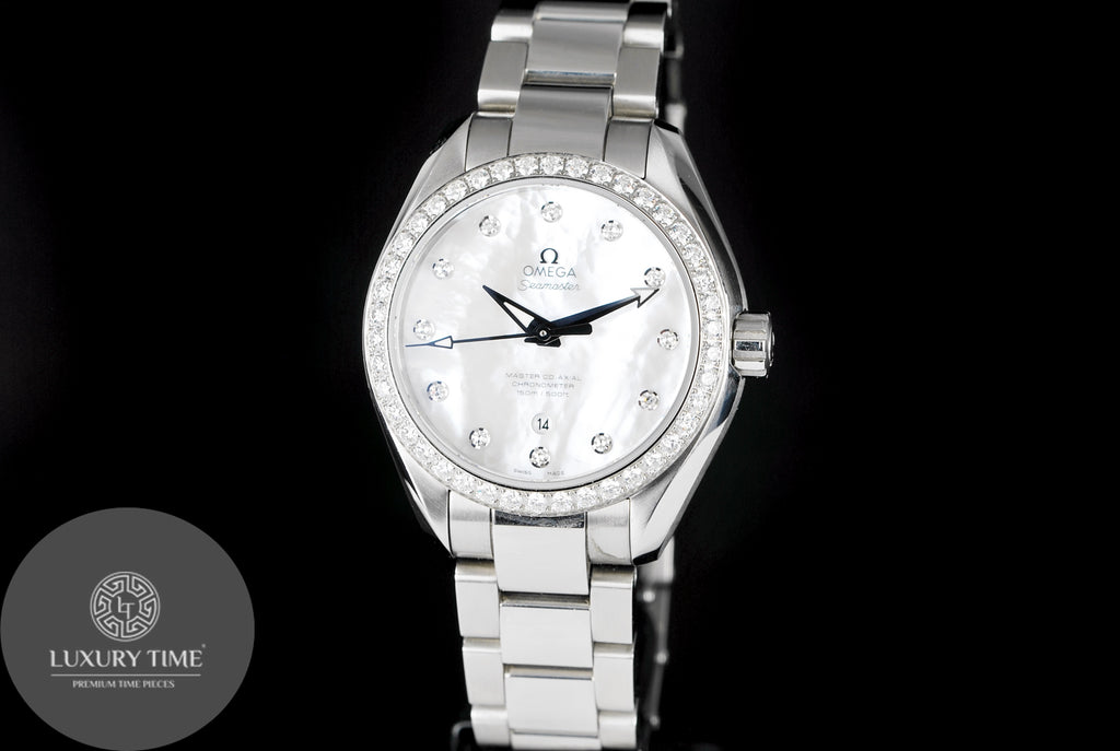 Omega Sea Master Aqua Terra White Mother Of Pearl Dial Automatic Watch