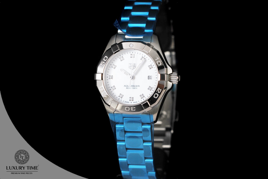 Tag Heuer Aquaracer White Mother Of Pearl Diamond Dial Ladies Watch