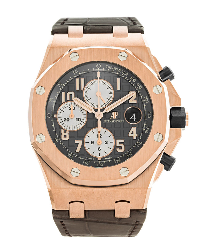 Audemars Piguet Royal Oak Offshore 18k Rose Gold Gray Automatic