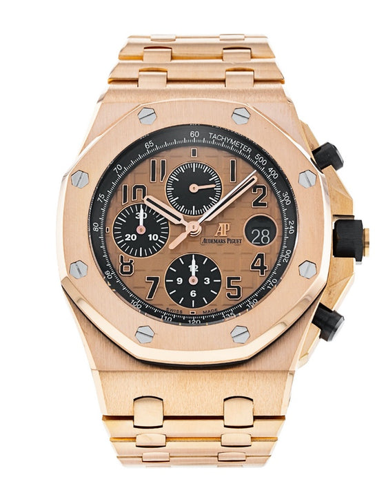 Audemars Piguet 18K Rose Gold Royal Oak Offshore Chronograph Mens Watch