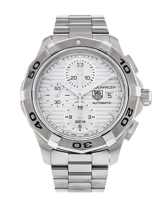 Tag Heuer Aquaracer Automatic Silver Dial Chronograph Men's Watch