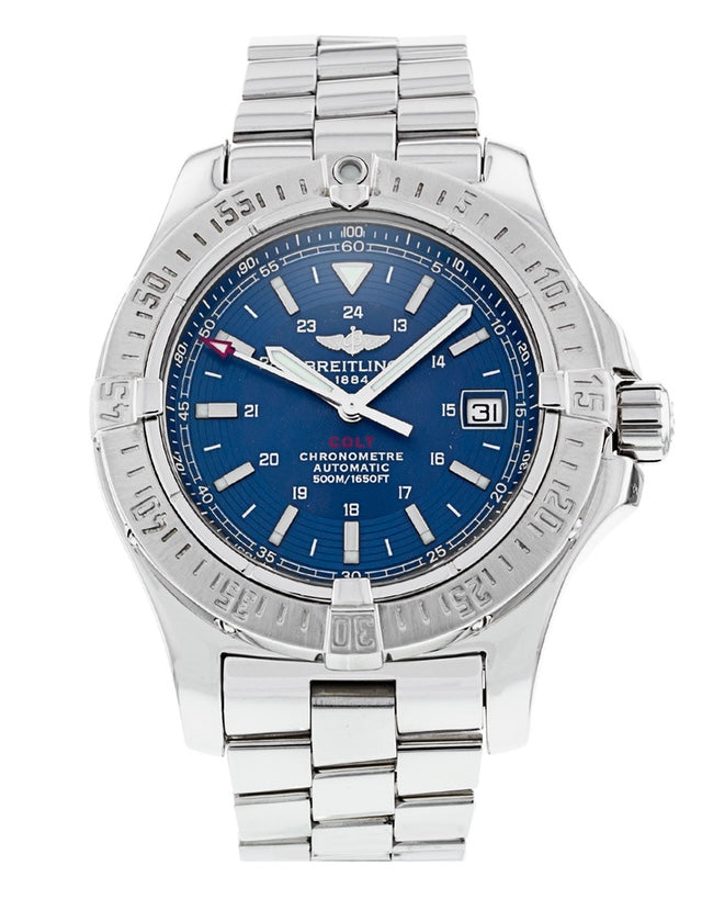 Breitling Colt Automatic Blue Dial Mens Watch