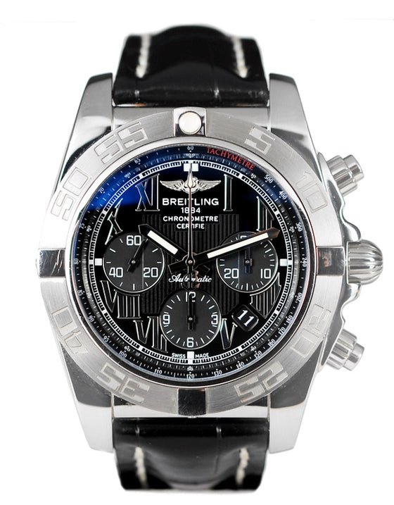 Breitling Chronomat Black Dial Mens Watch