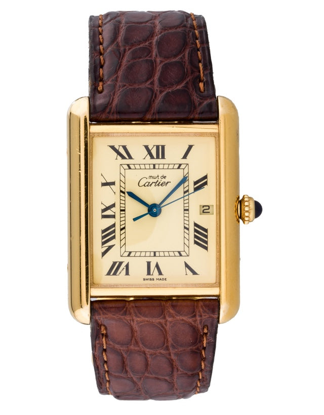 Cartier Tank Louis Vermeil Mens Watch