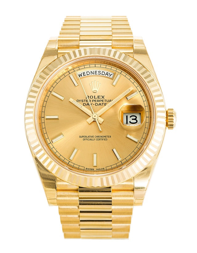 Rolex Day-Date 40 Yellow Gold Mens Watch