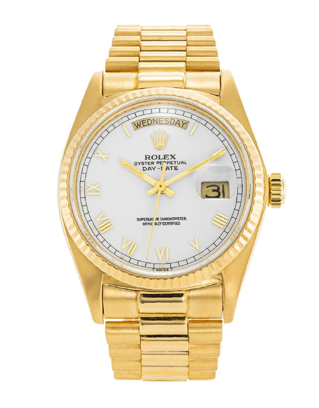 Rolex Day-Date Yellow Gold Mens Watch