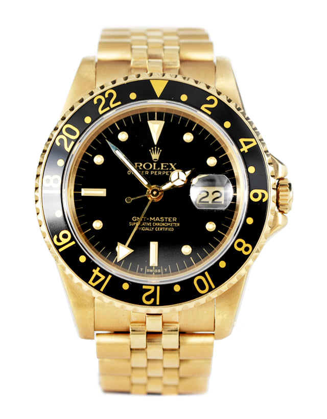 Rolex Gmt Master Yellow Gold Mens Watch