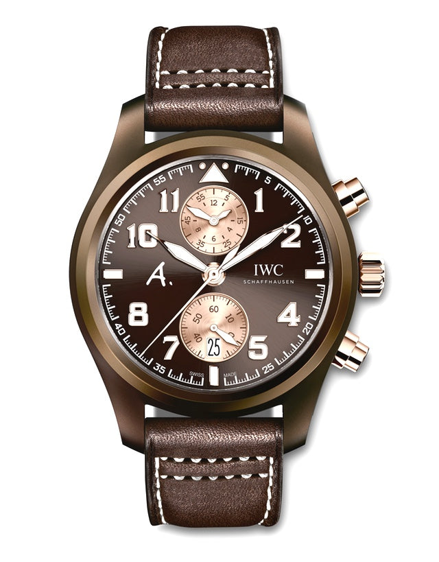 IWC Pilot Brown Dial Chronograph Automatic Men's Watch