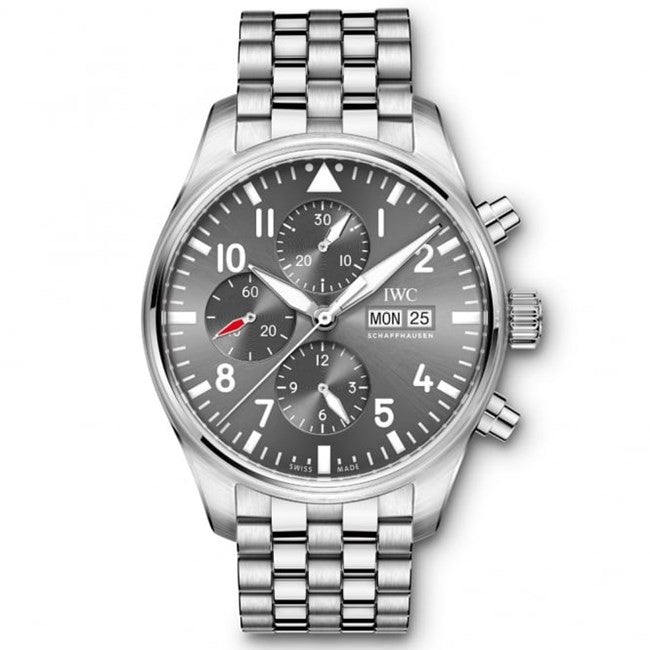 IWC Pilot's Chronograph Spitfire Grey Dial Steel Men's Watch
