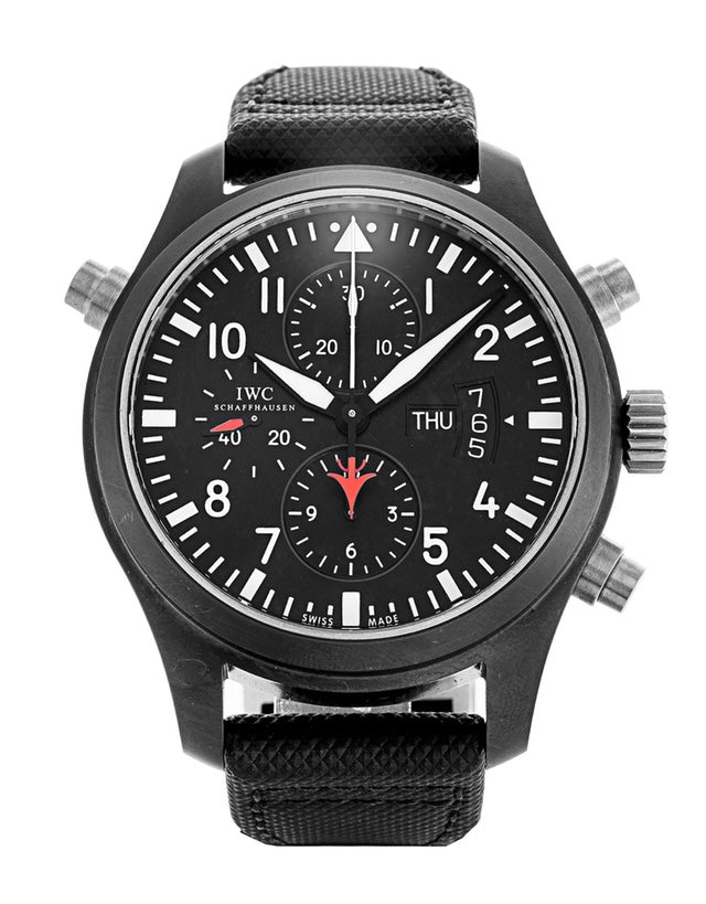 IWC Pilots Double Chrono Mens Watch