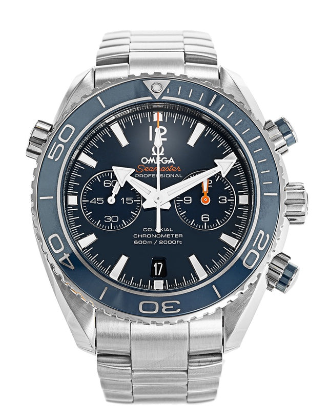 Omega Seamaster Planet Ocean Titanium 600M Chronograph Automatic Blue Dial Men's Watch