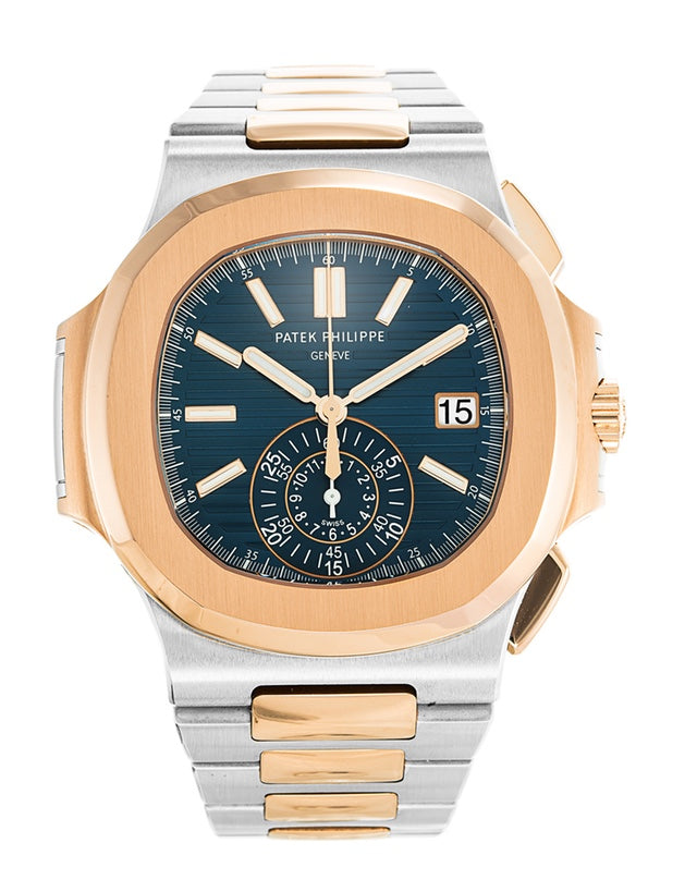 Patek Philippe Nautilus Steel & Rose Gold Mens Watch