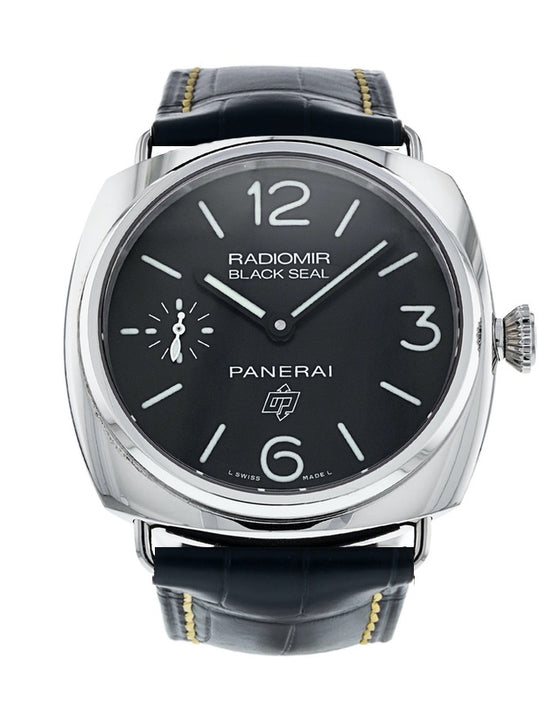 Panerai Radiomir Black Seal Logo 45mm Leather Strap Men's Watch