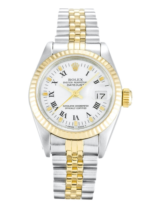 Rolex Datejust Stainless Steel & yellow Gold Ladies Watch