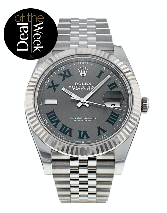 Rolex Datejust 41 Slate Grey Men's Watch