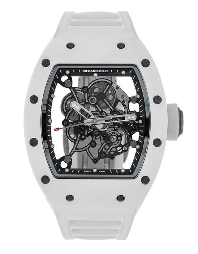 Richard Mille Bubba Watson White Ceramic RM055 Men's Watch